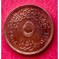 10-02 Египет, 5 пиастров 2008 г.