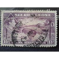 Сьерра-Леоне, колония Англии 1938 король Георг 6