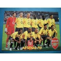 Футбольная карточка ФК Арсенал Лига чемпионов 2005/2006 гг.