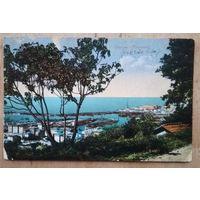 Старинная открытка. Генуя. Панорама. Италия. Подписана.