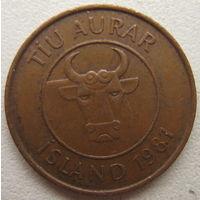 Исландия 10 аурар 1981 г. (g)