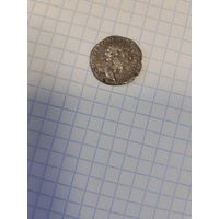 Денарий  Марк Аврелий 175-176 год Аквитас на реверсе.Варварское подражание