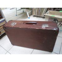 Старый фибровый чемодан 65*37*16 см