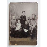 Фото семейное до 1917г. Россия. Размер 10.5-16см.