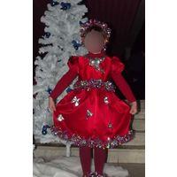 Самое новогоднее платье на 5-7 лет, эксклюзив в единственном экземпляре