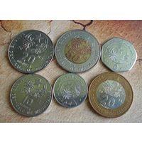 Мавритания. 6 монет 2005-2017 г.