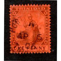 Тринидад и Тобаго.Ми-55.Сидящая Britannia. Серия: TRINIDAD. 1904