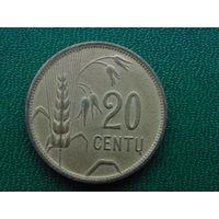 Литва  20 центов 1925 год.
