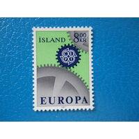 Исландия. 1967 г. Мi-411. Europa. CEPT.