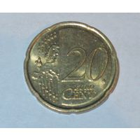 20 евро центов Латвия 2014г.