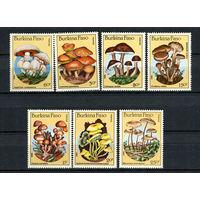 Буркина-Фасо - 1985 - Грибы - [Mi. 1054-1059] - полная серия - 7 марок. MNH.