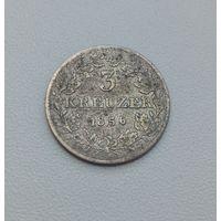 ФРАНКФУРТ  3 крейцера 1856 г.