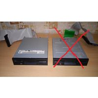 Флоппи дисковод NEC FD1231H + шлейф.