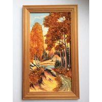 Картина панно из янтаря, р-р 13 х 23