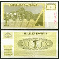 Словения. 1 толар. 1990. UNC