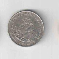 25 Центов 1981 года (Восточные карибские штаты) Елизавета II 35
