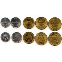 Коста-Рика 5, 10, 25, 50 и 100 колон 2007, 2008 гг.