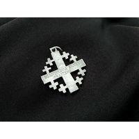 Кулон, нательный крест, Иерусалимский, Мальтийский, скандинавское серебро