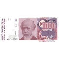 Аргентина 1000 аустралей образца 1988-1990 года UNC p329(2)