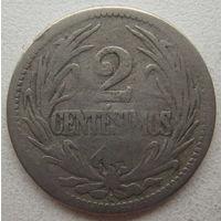 Уругвай 2 сентесимо 1901 г.