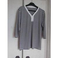 В подарок к купленной одежде .  Блузка Коричнево-белая полоска. Вискоза . Р-р 48