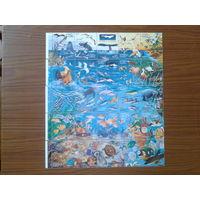 Мексика 1998 Морской мир 5 сцепок 25 марок полная серия
