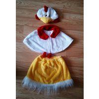 Новогодний карнавальный костюм курочка, юбка, накидка,шапочка.