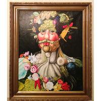 Портрет из овощей 40х50 холст  масло
