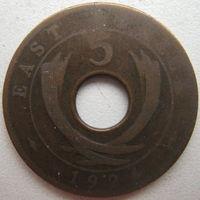 Восточная Африка 5 центов 1924 г. (g)