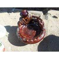 Пепельница глина