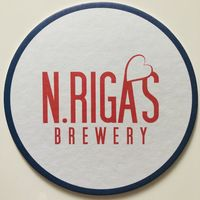 Подставка под пиво Run, Forrest! пивоварни N.Rigas brewery /Россия/ - 1