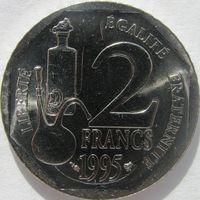 1k Франция 2 франка 1995 Пастер В ХОЛДЕРЕ распродажа коллекции