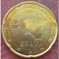 5140:  20 евро центов 2011 Эстония