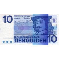 Нидерланды, 10 гульденов, 1968 г.