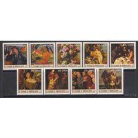 2003 Сан-Томе и Принсипи Искусство Санкт-Петербург MNH    серия 9 марок  \5