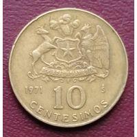 Чили 10 сентимо 1971