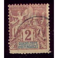 1 марка 1892 год Гваделупа 28 2