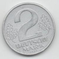 ГЕРМАНСКАЯ ДЕМОКРАТИЧЕСКАЯ РЕСПУБЛИКА 2 ДОЙЧМАРКИ 1957