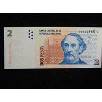 Аргентина 2 песо 1997г UNC