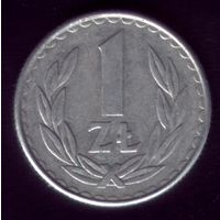 1 Злотый 1986 год Польша