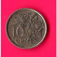 11-29 Тринидад и Тобаго, 10 центов 1999 г.
