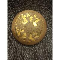 Старинная большая пуговица в золоте