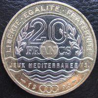 1k Франция 20 франков 1993 Средиземноморские игры В ХОЛДЕРЕ распродажа коллекции