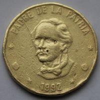 Доминикана, 1 песо 1992 г.