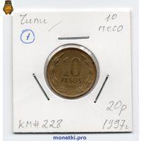 Чили 10 песо 1997 года
