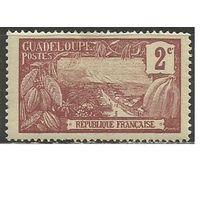 Гваделупа. Гроздь ванили. Пейзаж. 1905г. Mi#53.