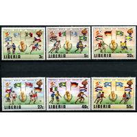 Либерия - 1981г. - Чемпионат мира по футболу 1982 года - полная серия, MNH [Mi 1187-1192] - 6 марок