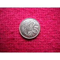 Каймановы острова 5 цент 2008 г.