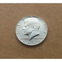 США, полдоллара 1968 г., серебро, D, Кеннеди