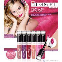 Объемный БЛЕСК для губ Rimmel Vinyl Max Lip Gloss оттенок 501 Dare